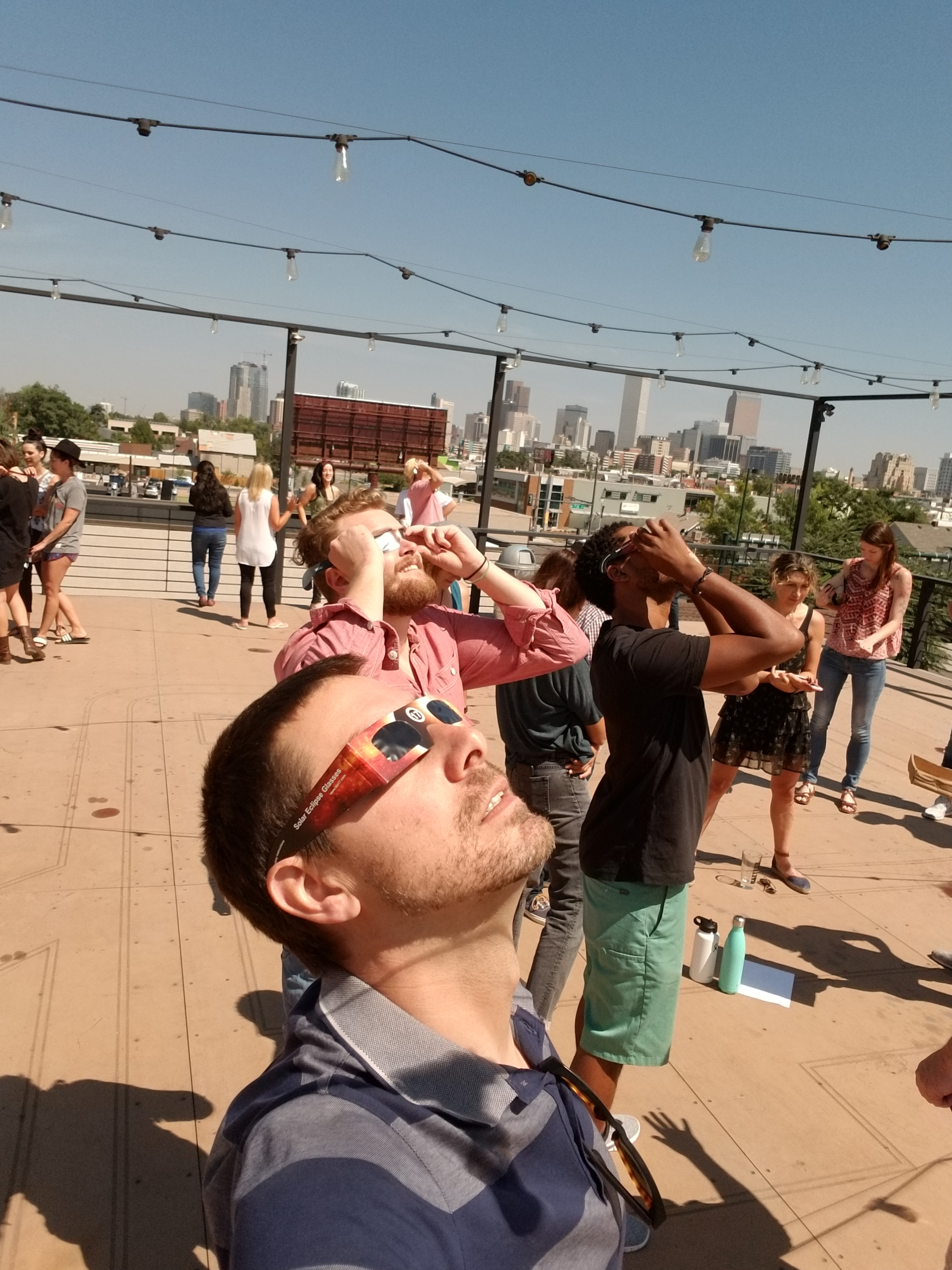 Viewing the Solar Eclipse at Battery621