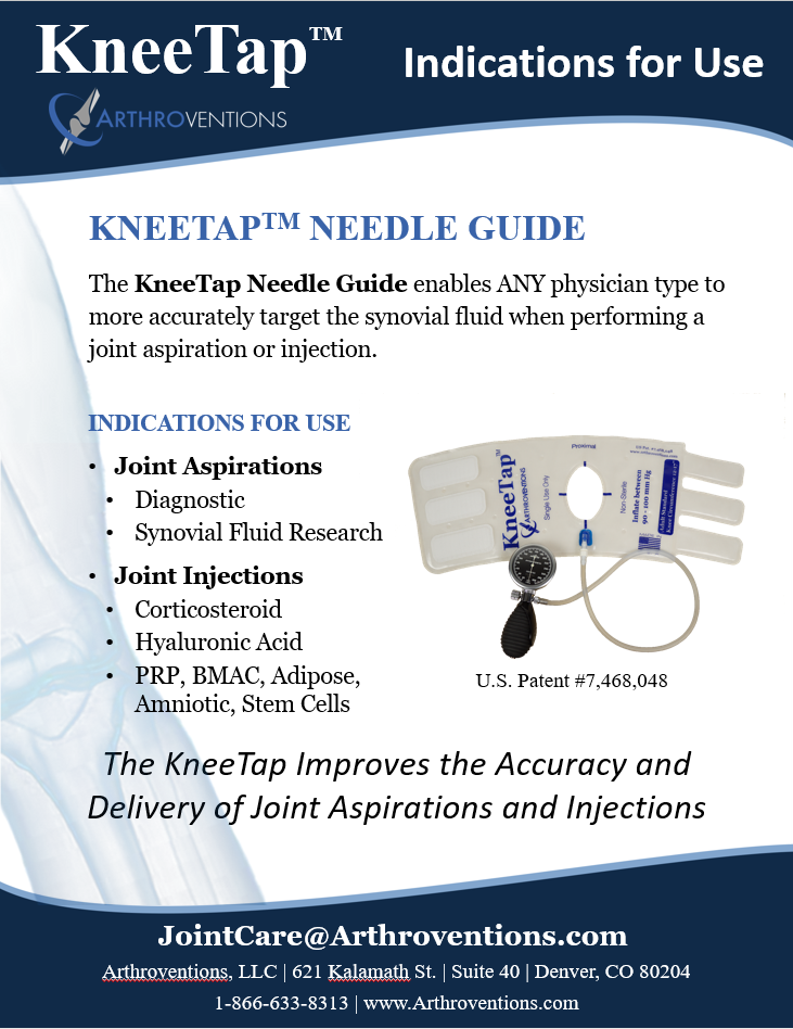KneeTap Product Overview - Indications for Use